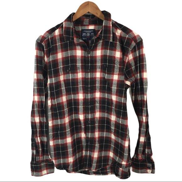 BF355 American Eagle Prep Fit Flannel Shirt M